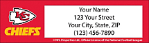 Kansas City Chiefs NFL Return Address Label