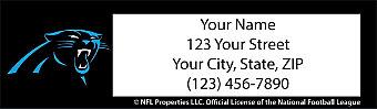 Carolina Panthers NFL Return Address Label