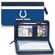 Leather Indianapolis Colts Zippered Wallet For Your Favorite NFL Team