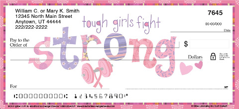 BCA Fighter in Pink Personal Checks