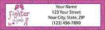 BCA Fighter in Pink Return Address Label