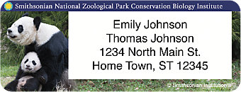 Smithsonian National Zoo Return Address Label