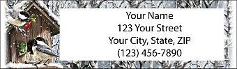 Winter Birds Return Address Label