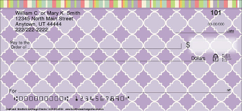 Quatrefoil Personal Checks
