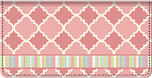 Quatrefoil Checkbook Cover