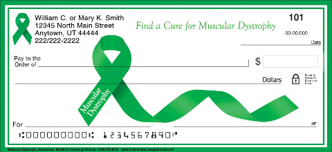 Muscular Dystrophy Awareness Personal Checks