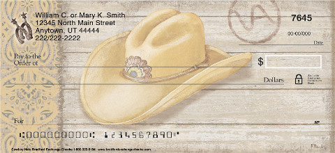 Cowboy Hats Personal Checks