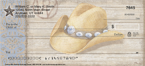 Cowboy Hats Personal Checks