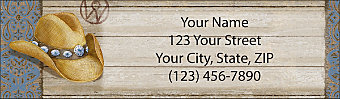 Cowboy Hats Return Address Label