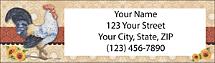 Roosters Return Address Label