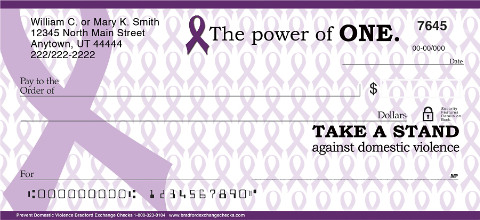 Prevent Domestic Violence Personal Checks