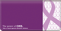 Prevent Domestic Violence Checkbook Cover