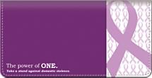 Prevent Domestic Violence Checkbook Cover