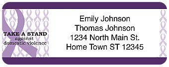 Prevent Domestic Violence Return Address Label