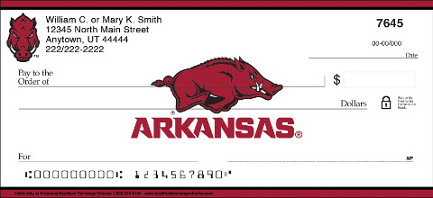 University of Arkansas Personal Checks