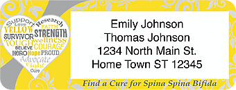 Spina Bifida Awareness Return Address Label