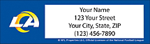 Los Angeles  Rams NFL Return Address Label