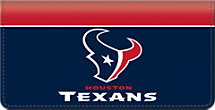 Houston Texans NFL Checkbook Cover
