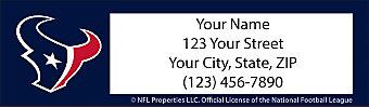 Houston Texans NFL Return Address Label