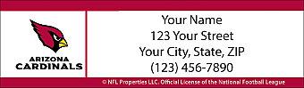 Arizona Cardinals NFL Return Address Label