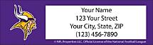 Minnesota Vikings NFL Return Address Label