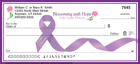 Cystic Fibrosis Awareness Personal Checks