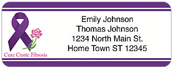 Cystic Fibrosis Awareness Return Address Label