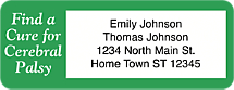 Cerebral Palsy Awareness Return Address Label