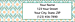 Minasian Patterns Return Address Label