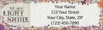 Hand-Stitched with Love Return Address Label