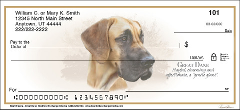Best Breeds - Great Dane Personal Checks