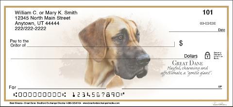 Great Dane Best Dog Breeds Personal Checks