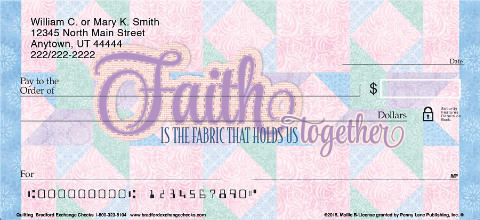 Quilting Personal Checks