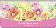 Blooming Flowers Checkbook Cover