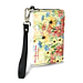 Blooming Flowers Small Wristlet Purse
