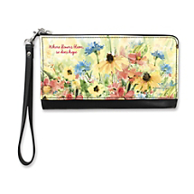 Enjoy a Glorious Garden View All Year Long When You Carry this Petal Perfect Stylish Clutch