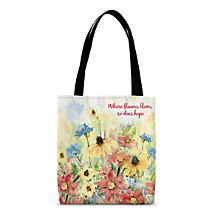 Our Colorful Tote with a Garden View Delivers an Inspirational Message, Too!
