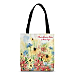 Blooming Flowers Fabric Tote Bag