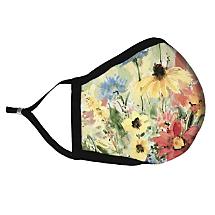 Blooming Flowers Fabric Face Mask Radiates Nature's Splendor