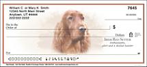 Best Breeds - Irish Setter Personal Checks