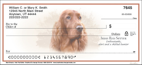 Best Dog Breeds Irish Setter Personal Checks