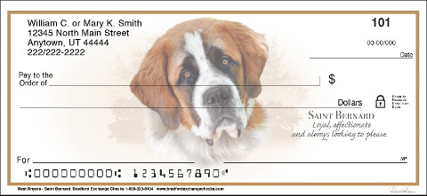 Best Breeds - Saint Bernard Personal Checks