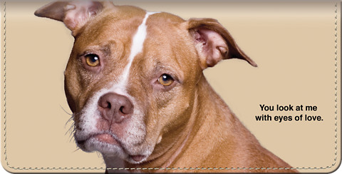 Faithful Friends - Pit Bull Checkbook Cover