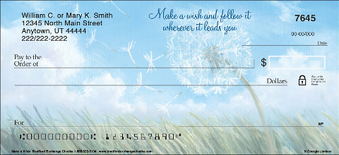 Make a Wish Personal Checks