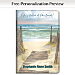 A Walk on the Beach Premium Refillable Journal
