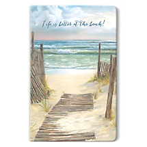 Most Memorable Stories Begin with a Book or a Beach and this Notebook has Both!