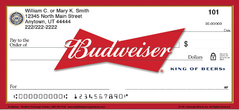 Budweiser Personal Checks