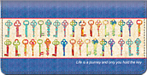 Keys of Life Checkbook Cover
