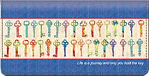 Keys of Life Checkbook Cover