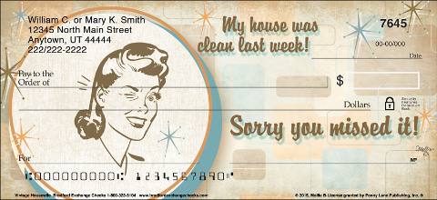 Vintage Housewife Personal Checks